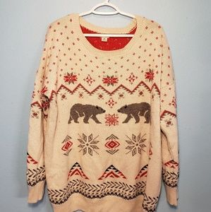 Mossimo Knitted Polar Bear Sweater